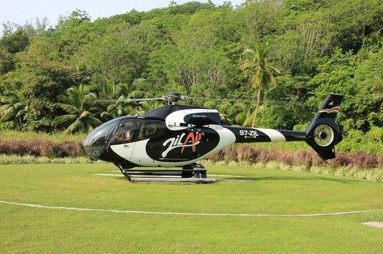 Kempinski Seychelles Resort: Ветолётная площадка
