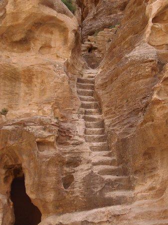 Beidha : Stufen zu (vermutlich) einem Kultplatz