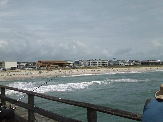 Kure Beach Pier: view of the land