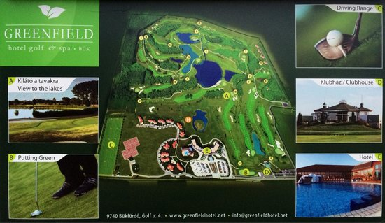 Greenfield Hotel Golf & Spa: Карта отеля