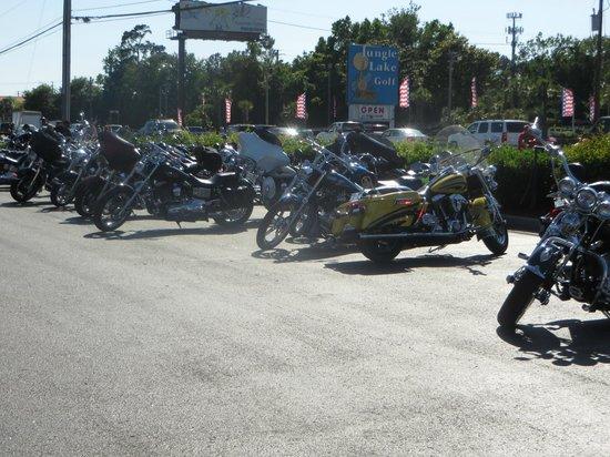 Texas Roadhouse : Bikers everywhere ...Biker week at Myrtle Beach