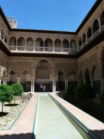Alcázar: One of the courtyards