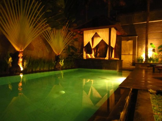 The Khayangan Villas: pool at night