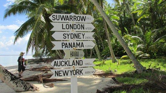 Sail Rarotonga Ltd: Suwarrow, current population=us