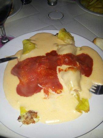 Picasso: Canelones de jamón y queso!