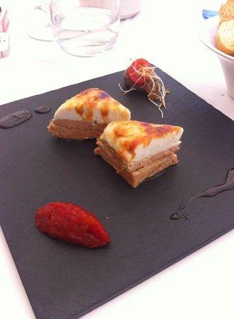 restaurante Amura: Foie gras con queso de cabra.........