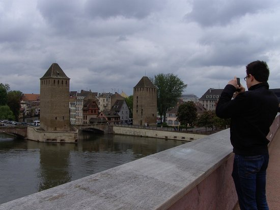 Strasbourg Pont Couverts : The covered bridges from the Barrage Vauban