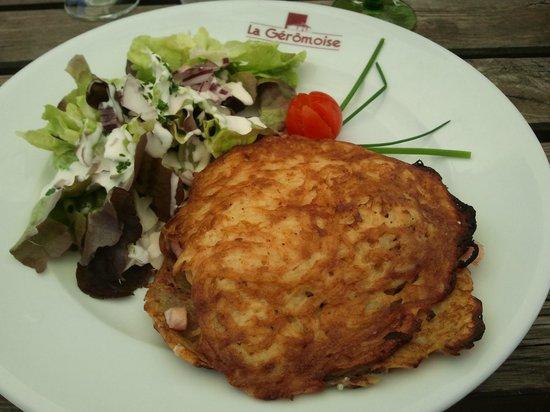 Brasserie La Gérômoise : burger Ajolais