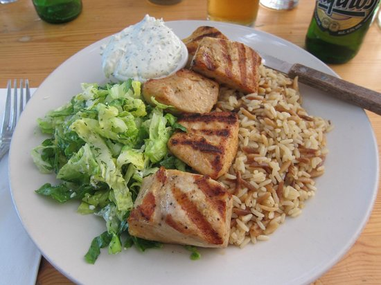 Mandolin Aegean Bistro: The Chicken Kabob Meal
