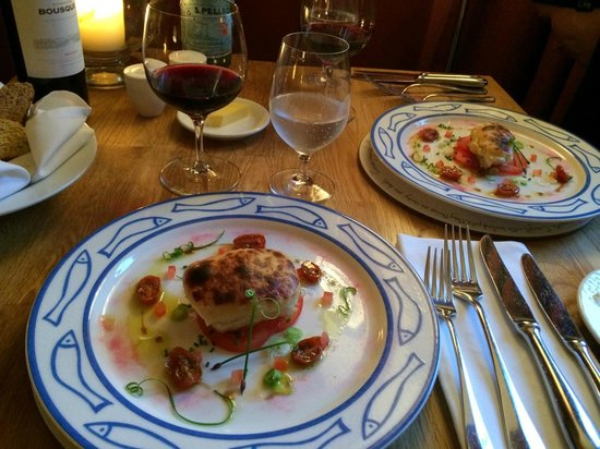 The Drawing Room: First course, Cod Rarebit
