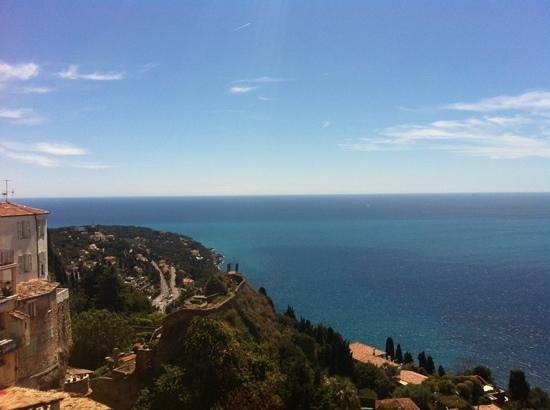 La Belle Vue : vista su Roquebrune e Cap Martin dal B&B