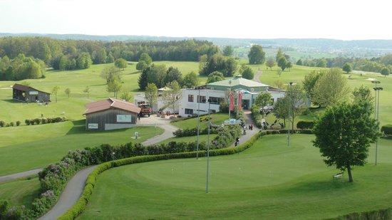 Reiters Supremehotel: Blick vom Zimmer auf Golfplatz und Golfrestaurant