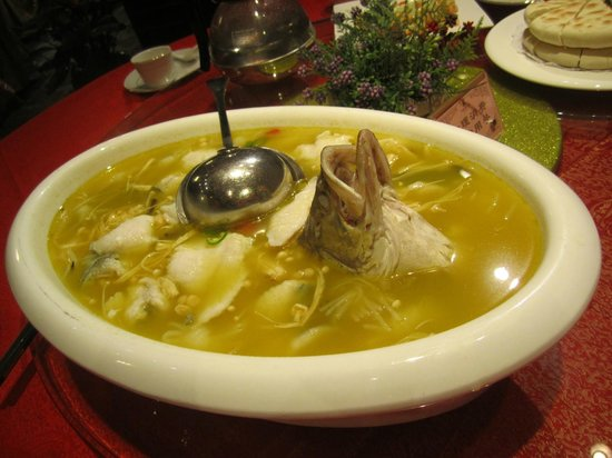 Tang Dynasty Art Garden Hotel: Fish and dumpling soup