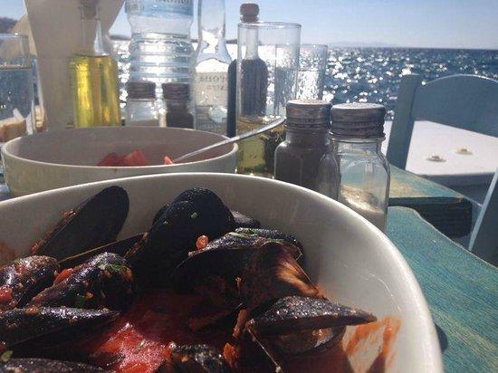 Klein-Venedig: Vista da mesa de um segundo restaurante