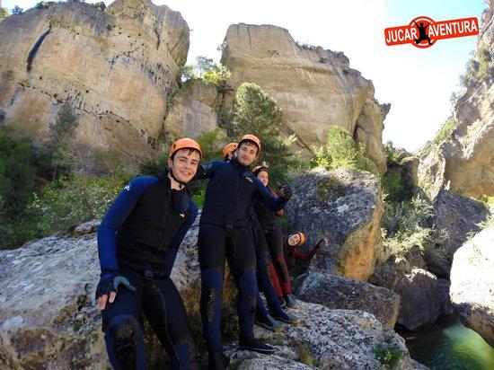 Villalba de la Sierra, Espanha: Barranquismo con Júcar Aventura
