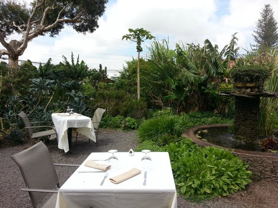 Merriman's: their herb garden is the perfect setting for a cocktail and appetizer party!