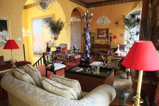 Boutique Hotel Mansion del Angel: the upstairs common area