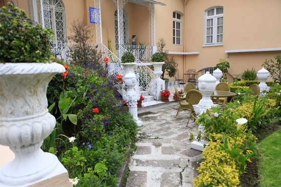 Boutique Hotel Mansion del Angel: the back garden