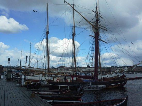 Skeppsholmen: vele ormeggiate