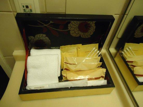 Kumamoto Hotel Castle : Amenities no banheiro