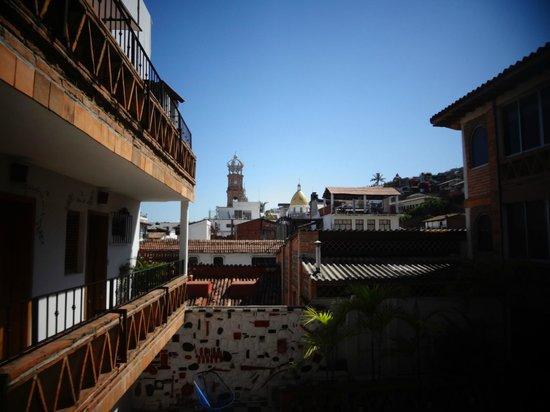 Catedral Vallarta Boutique Hotel: vista desde el tercer piso