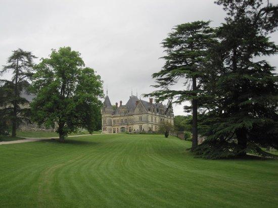 Chateau de la Bourdaisiere : Chateau on the hill