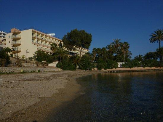 Nautico Ebeso Hotel: Frente do Hotel - Vista da praia