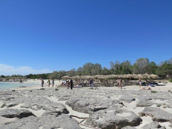 Plage d'Elafonissi : plaża nad laguną
