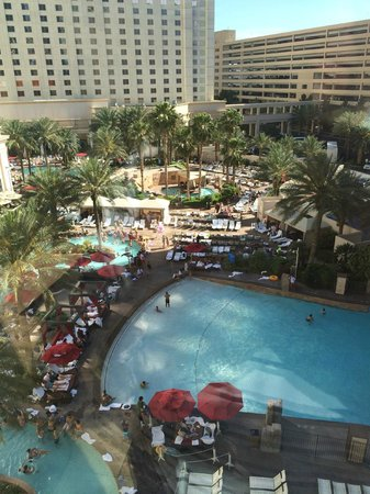 Monte Carlo Resort & Casino : Pool viewed from tram station