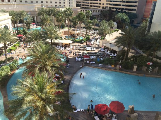 Monte Carlo Resort & Casino : Pool viewed from tram station