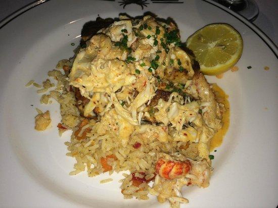 Truluck's Steak & Stone Crab: Blackened redfish Ponchatrain