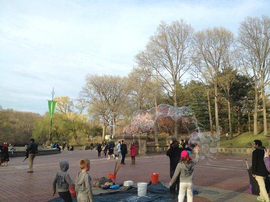 Bethesda Fountain: Bolhas de sabão!