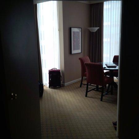 Georgian Court Hotel: from the bedroom door
