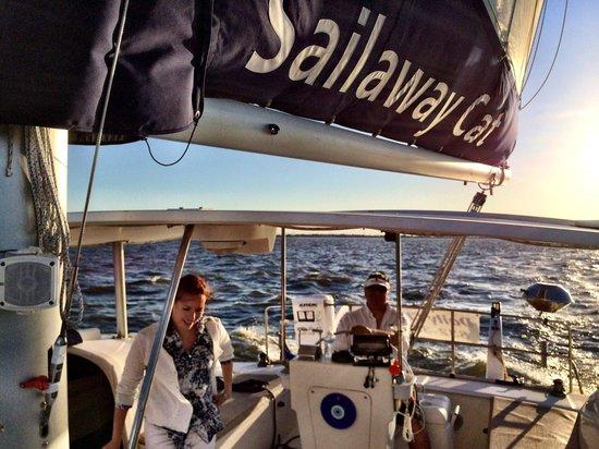 Sailaway Clear Lake Charters: Enjoying the cruise.