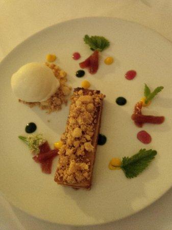 Bishop's: brown sugar rhubarb tart