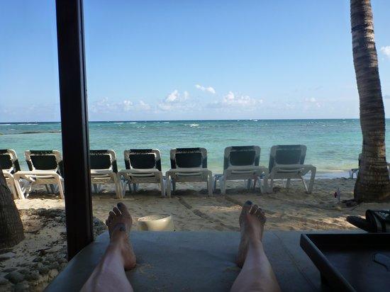 El Dorado Sensimar Riviera Maya: From the beach bed