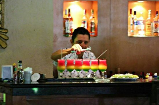 Iberostar Tucan Hotel: Our friends were due to arrive at any minute so our wonderful bartender fixed us up a special dr