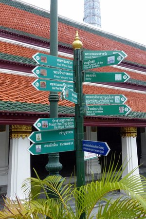 Directions to the various attractions at The Grand Palace