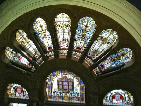 Queen Victoria Building (QVB) : stained glass windows