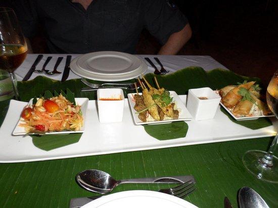 Crown Lanta Resort & Spa: our private beach dinner