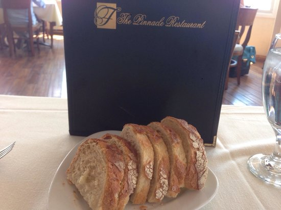 Pinnacle Restaurant - Falkner Winery: This bread is the ultimate in wine-country...do not recall another bread that beats this one! Cr