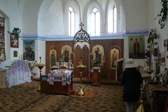 Medzhybizh Fortress: Inside the church