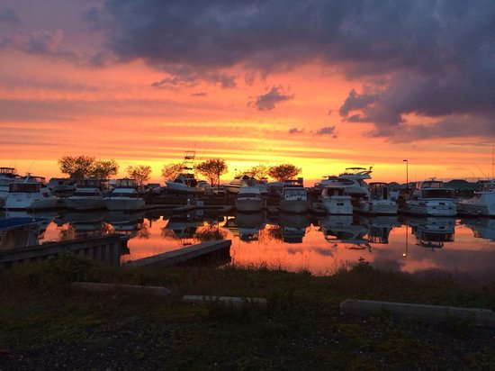Sunset at Beach Creek Oyster Bar 5/17/2014 - Picture of