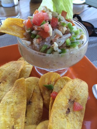 Paya Bay Resort: Ceviche at lunch with plantain chips