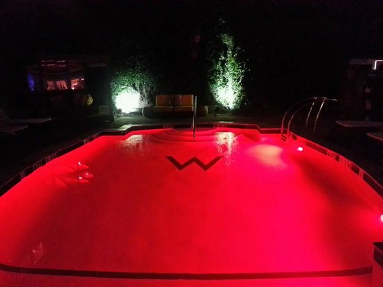 W New Orleans - French Quarter: heated pool with changing lights....it was nice at night
