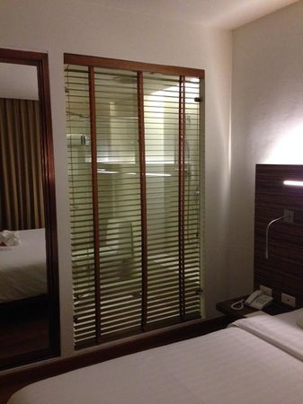 Sacha's Hotel Uno : room with see through bathroom