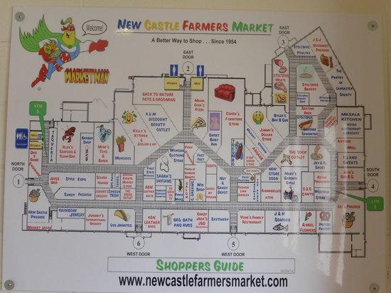 New Castle Farmer's Market: New Castle Farmers Market Map