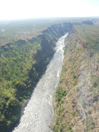 Shearwater Victoria Falls - Helicopter Flights : River Gorge downstream