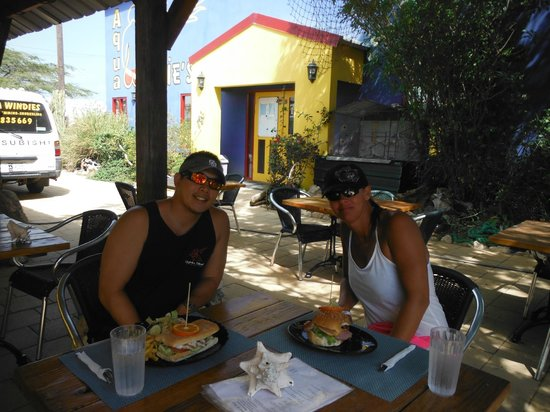 Reef and Beef Aruba: me and my girlfriend