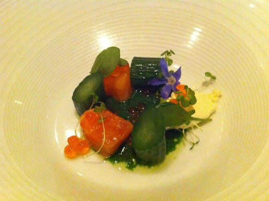 Merediths: Course #2 - King salmon, ricotta & roe